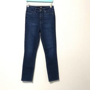 Paige Women's High Rise Skinny Dark Wash Jeans 27